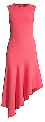 Michael Kors Women's Stretch Wool Crepe Asymmetric-Hem Dress - Size 0