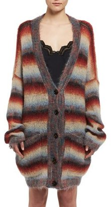 Chloe Striped Mohair Oversized Cardigan $1,395 thestylecure.com