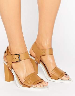G Star G-Star Claro Tan Leather Heeled Sandals