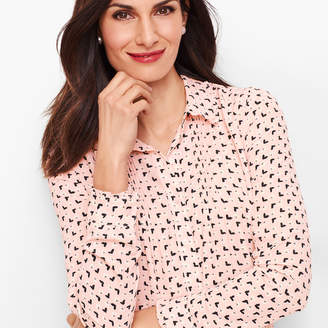 Talbots Soft Butterfly Pintuck Shirt