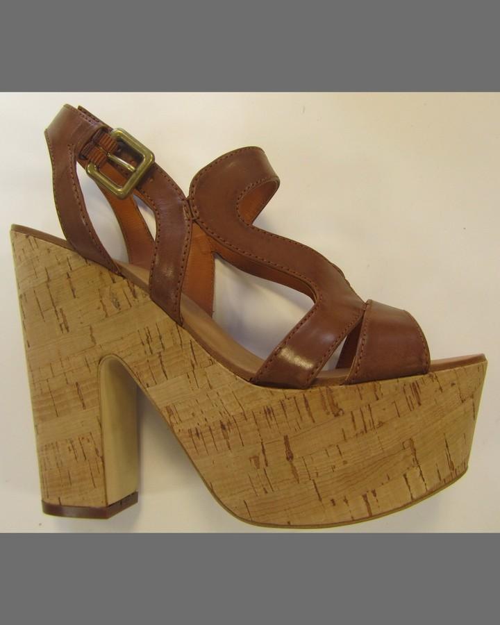 Ash Strappy Cork Platform Sandal
