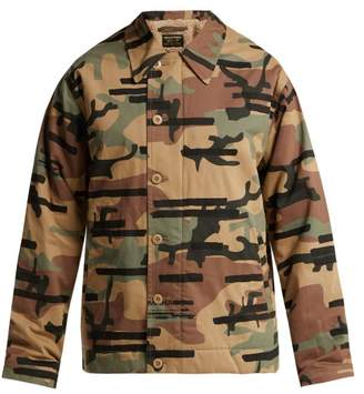 MHI Camouflage Print Cotton Blend Jacket - Womens - Camouflage