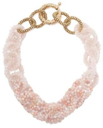 Rosantica By Michela Panero - Carramato Short Beaded Necklace - Womens - Pink
