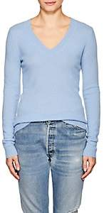 Barneys New York WOMEN'S CASHMERE V-NECK SWEATER - BLUE SIZE M
