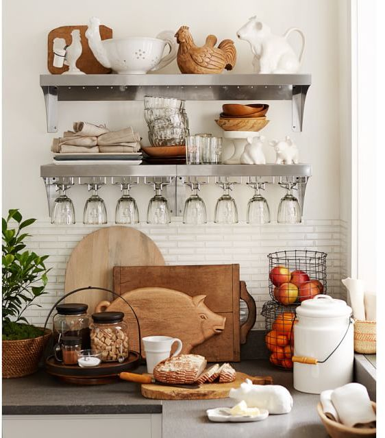 Pottery Barn Stainless Steel Wall System