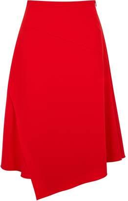 BOSS Red Stretch-cady Midi Skirt