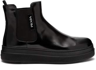 Prada Chunky sole leather ankle boots