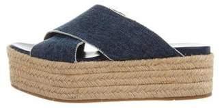 Miu Miu Flatform Espadrille Sandals