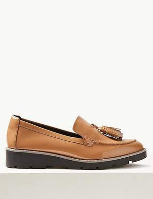 Marks and Spencer Wide Fit Leather Tassel Loafers