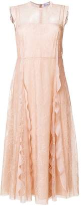 RED Valentino lace ruffle dress