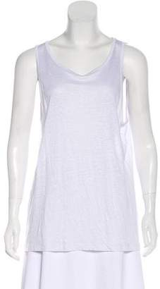 Alexander Wang Linen and Silk-Blend Sleeveless Top