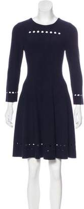 Issa Perforated A-Line Dress