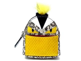 Fendi Sac a Dos Yellow Leather Bag charms