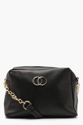 boohoo Double Ring Multi Compartment Cross Body