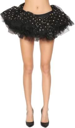 Moschino Studded Tulle Mini Skirt