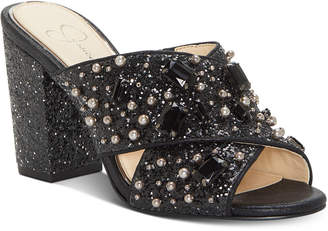 Jessica Simpson Rizell Block Heel Dress Sandals Women's Shoes