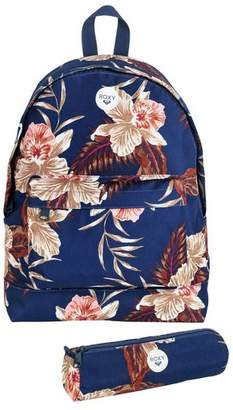 Roxy Navy Floral Backpack and Pencil Case