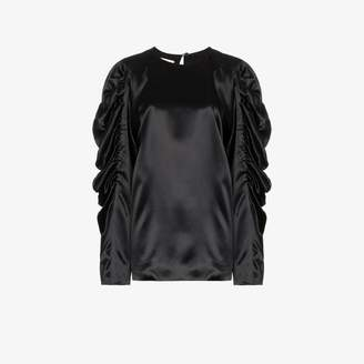 Dries Van Noten Gathered Long Sleeved Blouse