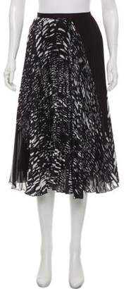Timo Weiland Printed Pleated Midi Skirt Black Printed Pleated Midi Skirt