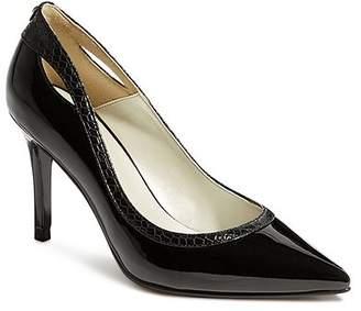 Karen Millen Women's Court Pointed Toe Cut-Out High-Heel Pumps