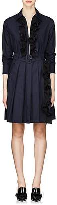Prada Women's Cotton Poplin Shirtdress - Navy