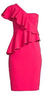 Trina Turk Women's Shangri-La Waterfall One-Shoulder Sheath Dress