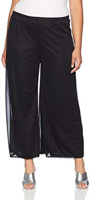 MSK Women's Plus Size Day to Evening Wide Leg Mesh Pant
