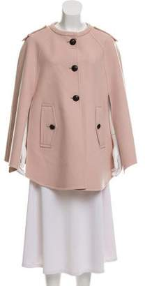 Emilio Pucci Virgin Wool Button-Up Cape