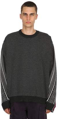 Y/Project Norwegian Paneled Wool Knit Sweater