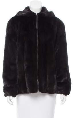 Hooded Mink Fur Jacket