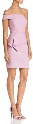 BCBGMAXAZRIA Off-the-Shoulder Peplum Dress