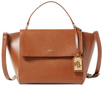 Lauren Ralph Lauren Barclay Leather Satchel $198 thestylecure.com