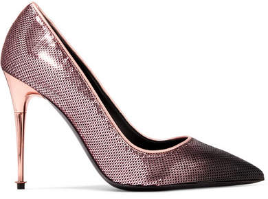 TOM FORD - Dégradé Sequined Leather Pumps - Purple