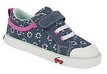 See Kai Run Little Girl's Floral Chambray Sneakers