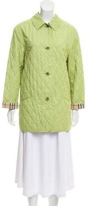 Burberry Quilted Nova Check Accented Jacket