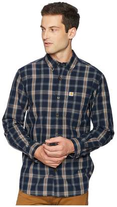 Carhartt Essential Plaid Button Down Long Sleeve Shirt Men's Long Sleeve Button Up