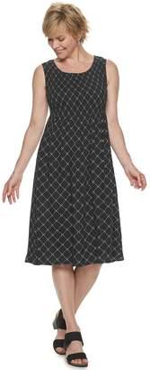 Croft & Barrow Petite Smocked Midi Dress