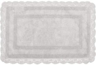 "Laura Ashley Crochet Cotton Reversible 17"" x 24"" Bath Rug Bedding"