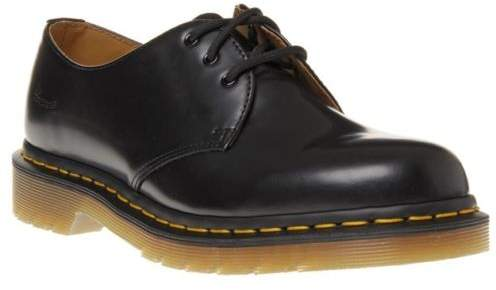 New Boys Black 1461 Leather Shoes Lace Up