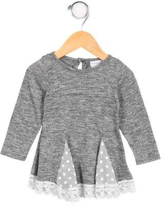 Camilla Girls' Lace-Trimmed Mélange Top