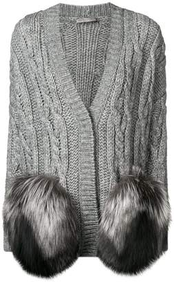 Ermanno Scervino fur pocket cardigan