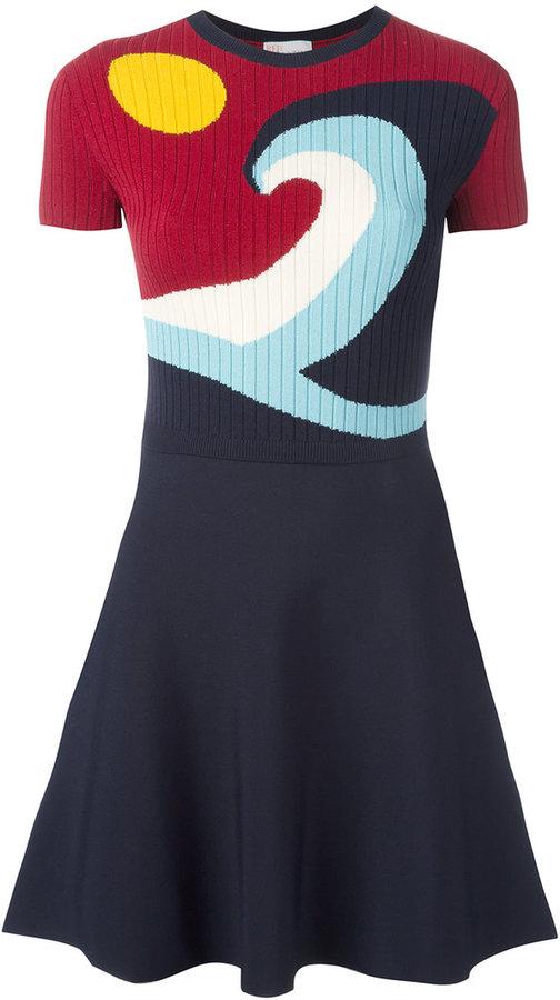 RED ValentinoRed Valentino flared knit dress
