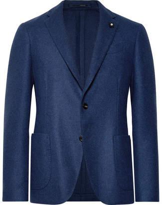 Lardini Blue Unstructured Wool Blazer
