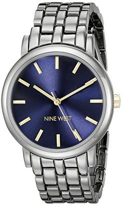 Nine West Women's NW/1805BLGN Gunmetal Bracelet Watch
