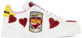 Dolce & Gabbana White Amore Energy Sneakers