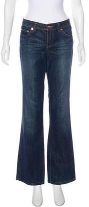 Tory Burch Mid-Rise Straight Leg Jeans