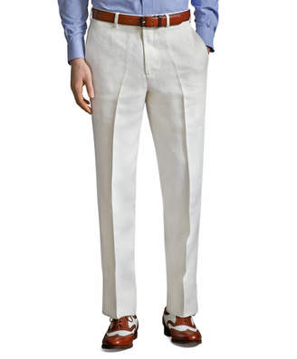 Brooks Brothers The Great Gatsby Collection Ivory Linen Pants