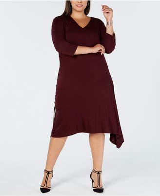 INC International Concepts I.n.c. Plus Size Asymmetrical-Hem A-Line Dress