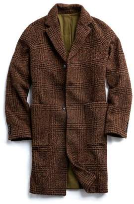 Todd Snyder Italian Wool Boucle Glen Plaid Topcoat in Brown
