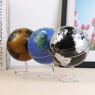 mtqsun 4'' 360 Dia Automatic Rotating Globe Battery Powered World Map Home Room Office Home Decor Birthday Gift